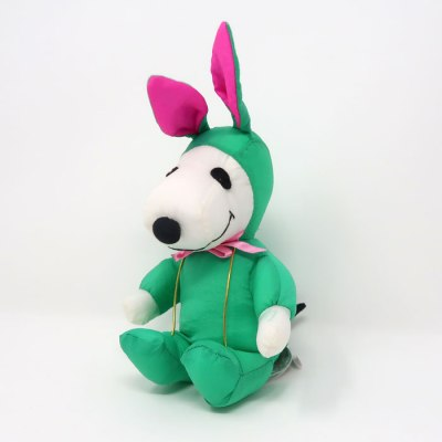 Snoopy green and pink Easter Beagle Plush