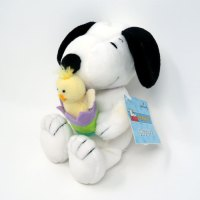Snoopy holding Chick in Egg Easter Plush