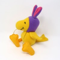 Woodstock in Purple Bunny Hat Plush