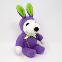 Snoopy purple and green Easter Beagle Plush