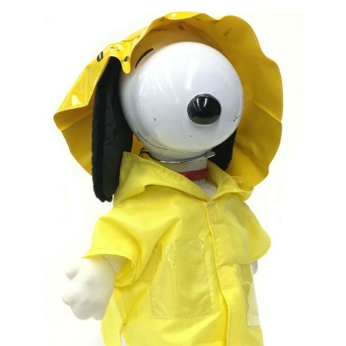 Yellow Raincoat Snoopy Doll