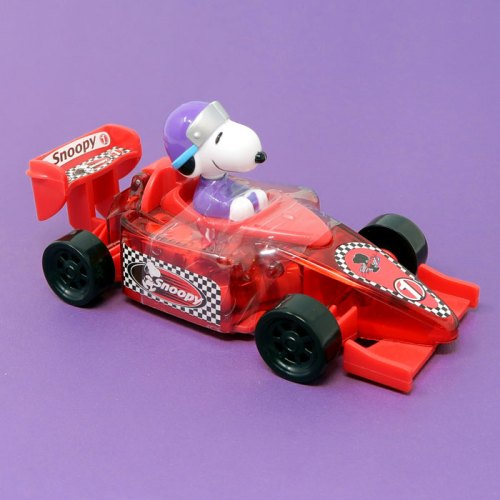 Red Snoopy Race Car Candy Container
