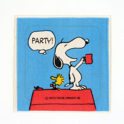 Snoopy Party Sticker