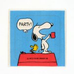 Snoopy Party Sticker