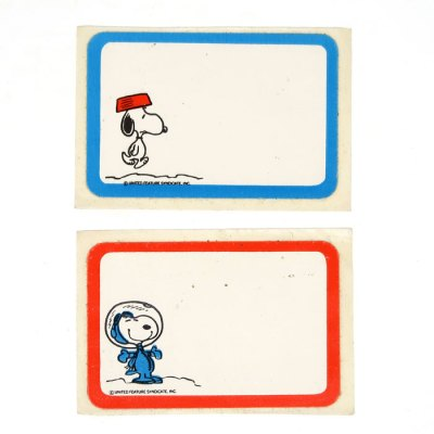 Astronaut Snoopy and Dogdish Snoopy Name Tags
