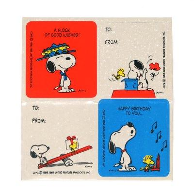 Snoopy & Woodstock Birthday Stickers