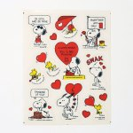 Snoopy & Woodstock Valentine Stickers