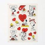 Snoopy & Woodstock Valentine Stickers