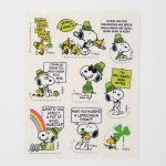 Snoopy & Woodstock St. Patrick's Day Stickers