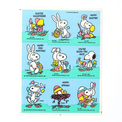 Easter Beagle Snoopy Stickers