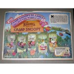 Camp Snoopy Promo Glasses Tray Liner