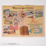 Peanuts Bi-centennial Name Stickers Butternut Bread Ad