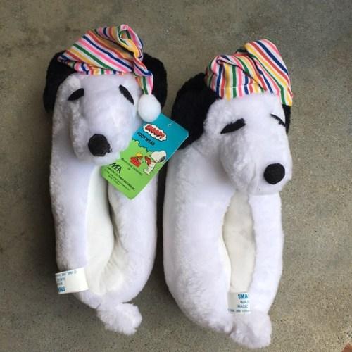 Vintage Snoopy Slippers