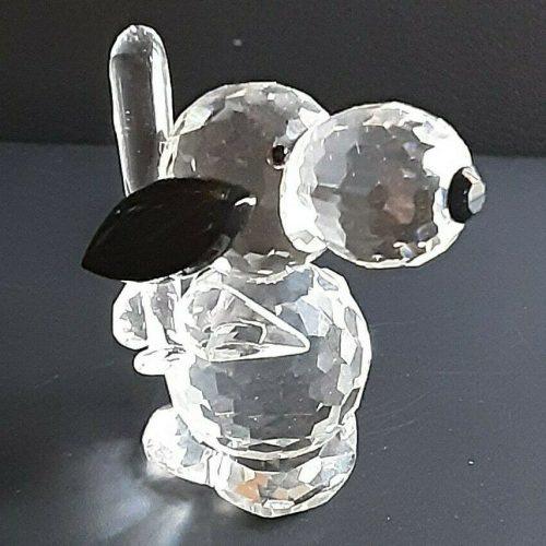 Silver Deer Snoopy Crystal Figurines