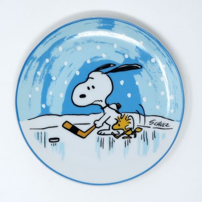 Snoopy Hockey Plate
