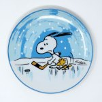Snoopy Hockey Plate