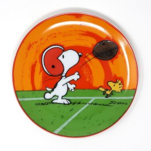 Snoopy Football Plate