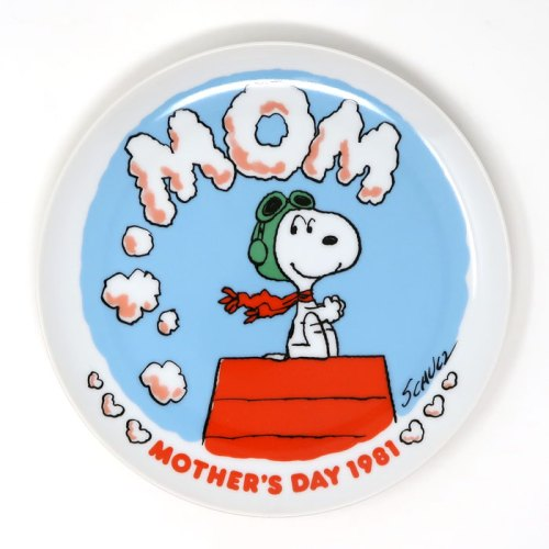 Snoopy 1981 Mother's Day Plate