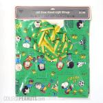 Peanuts Gang Soccer Gift Wrap with Bow and Card
