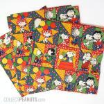 Peanuts Scenes on quilt blocks Gift Wrap