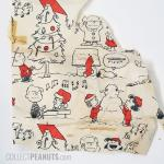 Peanuts Christmas Scenes Red, White and Black Gift Wrap