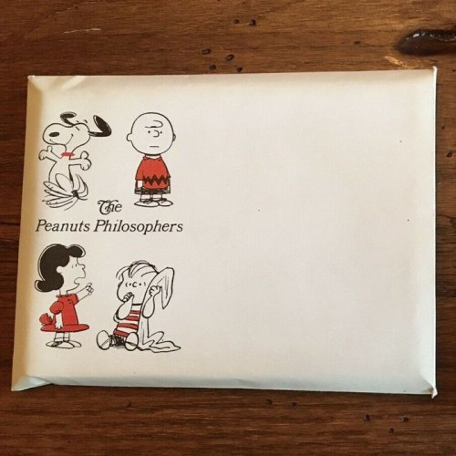 Peanuts Philosophy Book with Envelope