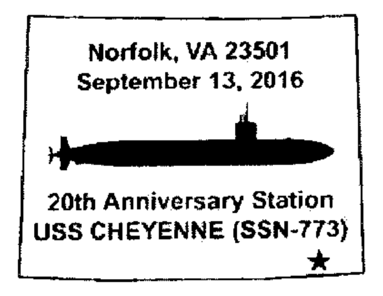 20th Anniversary Station Uss Cheyenne Ssn 773 Norfolk