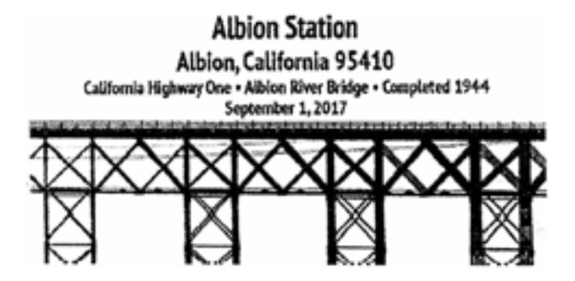 Albion River Bridge on Highway One, Albion, California