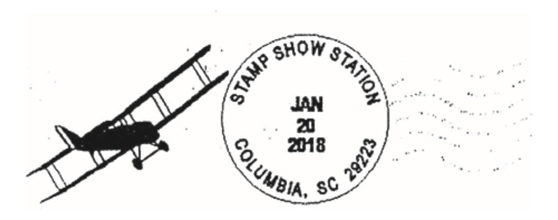 Columbia South Carolina Stamp Show Station