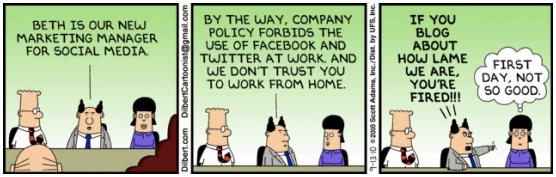 Dilbert Social Media Fear
