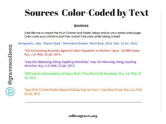 Color Coded Googledoc 2