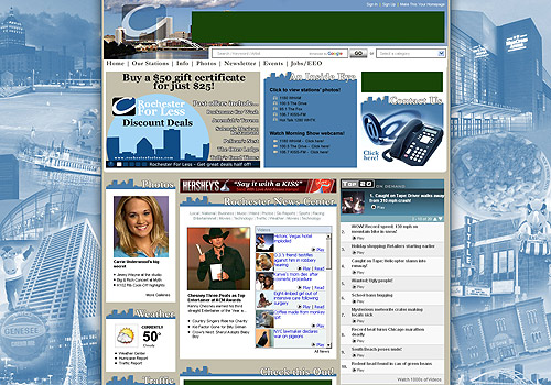 ClearChannelRochester.com Site Design