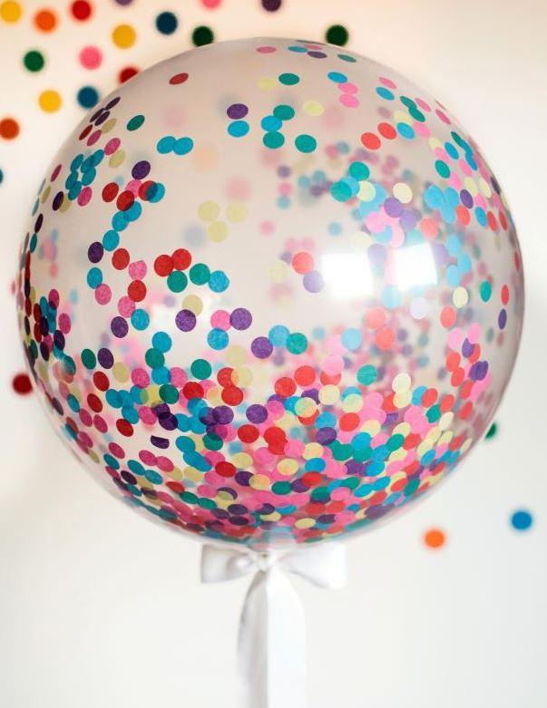 diy confetti balloon
