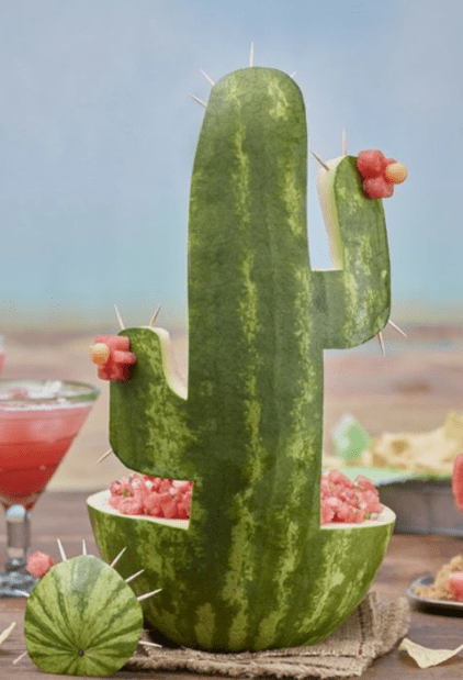 cactus watermelon fruit bowl