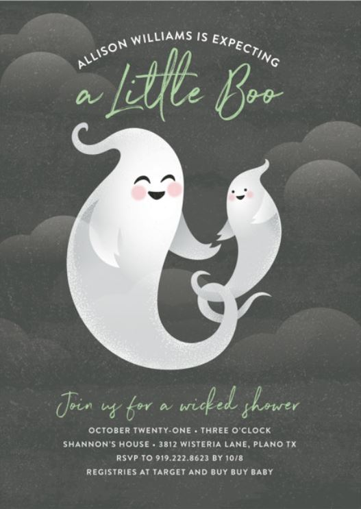 a little boo baby shower invitation
