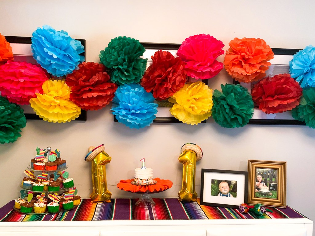 colorful flowers for fiesta theme party