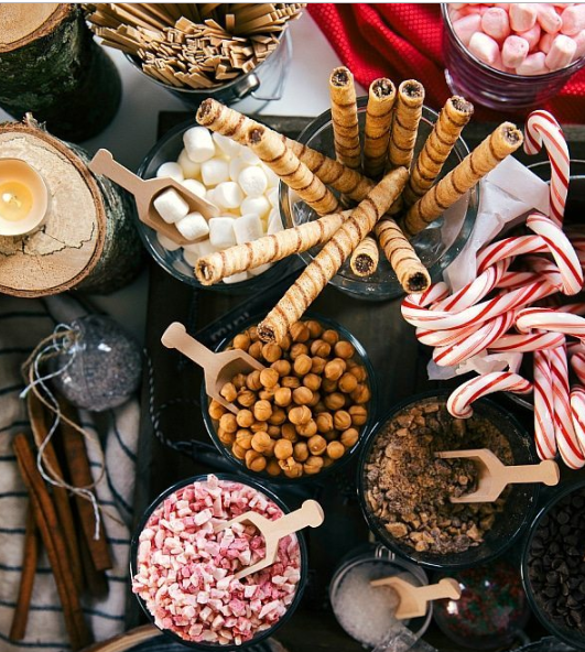 hot chocolate bar inspiration