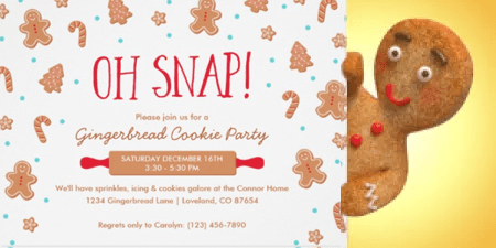 Christmas cookie party invites