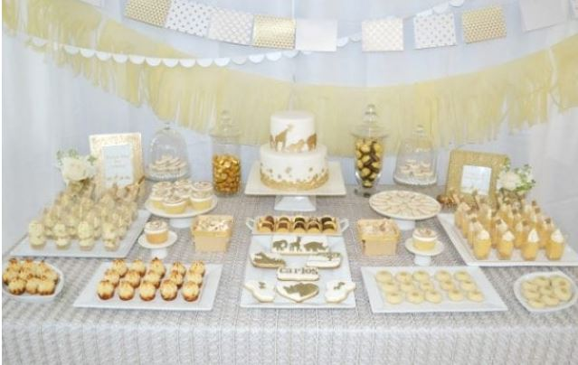 golden safari baby shower