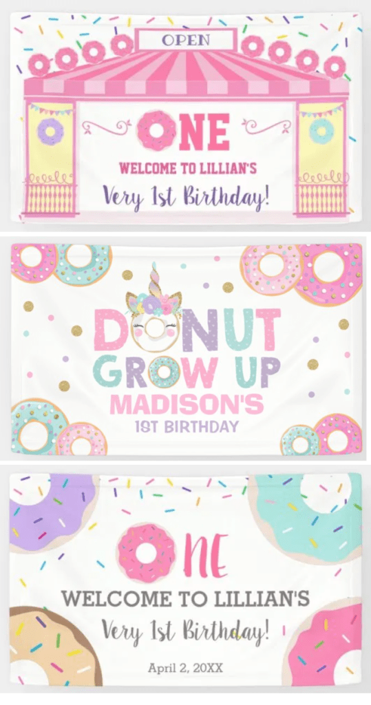 welcome banners for donut party