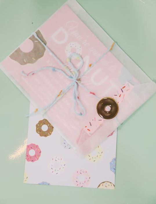 donut birthday party invitations
