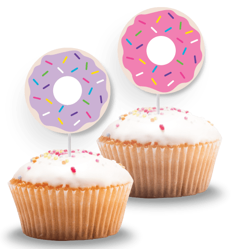 free donut cupcake toppers