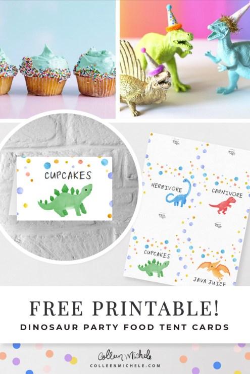 Free editable dinosaur printable