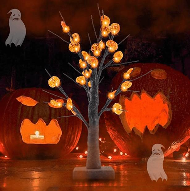 pumpkin tree for Halloween birthdays