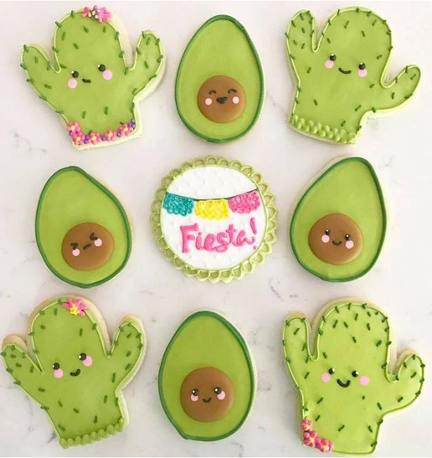 cute cookies for fiesta party