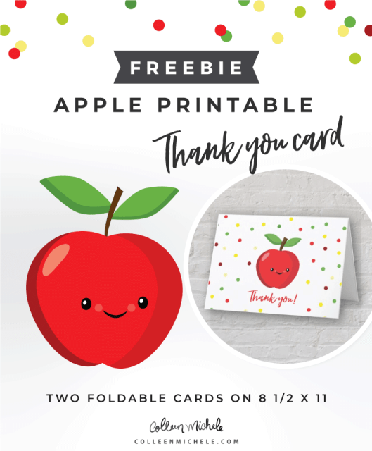free apple thank you card