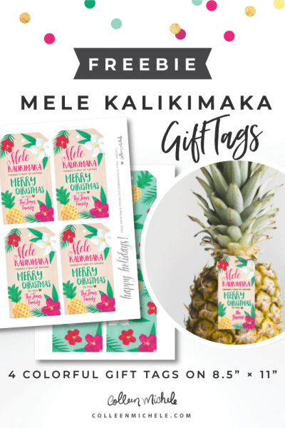 free Mele Kalikimaka Gift Tags