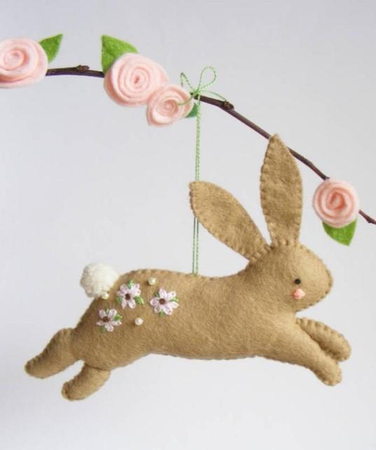 bunny felt pattern