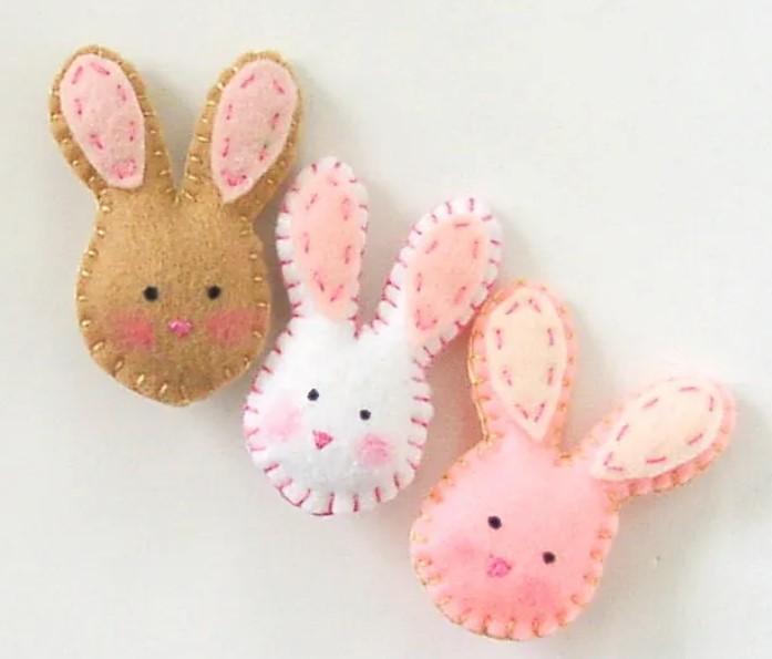 cute felt bunny faces