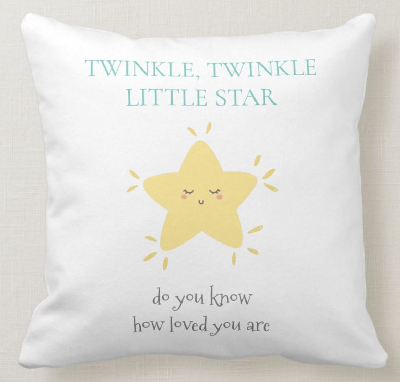 cute twinkle star pillow